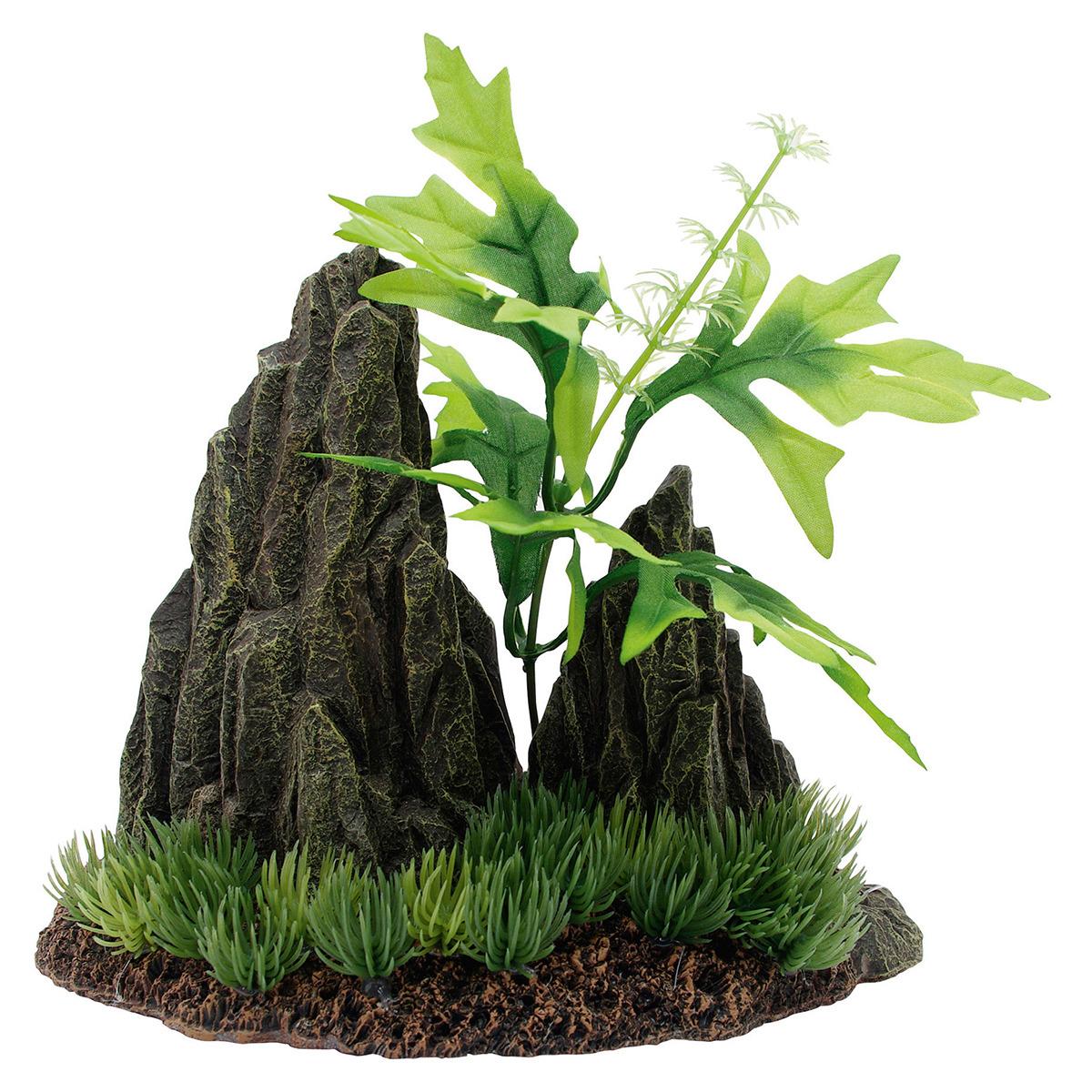 marina doppelte felsformation mit pflanzen. Black Bedroom Furniture Sets. Home Design Ideas