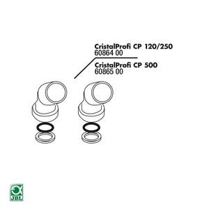 JBL Ersatzteil 2x CP 120/250 Anschlussfitting