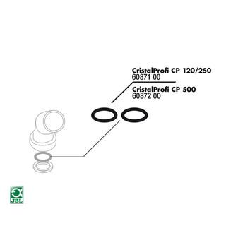 JBL Ersatzteil 2x CP 120/250 Dichtung für Anschlussfitting