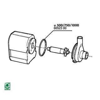 JBL Ersatzteil 2x Dichtung Rotorabdeckung u500/750/1000