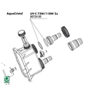 JBL Ersatzteil 2x Dichtungen Tülle für UV-C 72 / 110 W