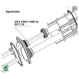 JBL Ersatzteil 2x O-Ring Quarzglas für UV-C 72 / 110 W