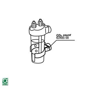 JBL Ersatzteil 2x Sauger + 1x Klammer für CO2 Count/Permanent Test