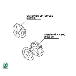 JBL Ersatzteil CP 500 Abdeckung Rotor 2 Teile + Dichtung