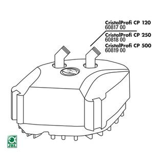 JBL Ersatzteil CP 500 Pumpenkopf komplett