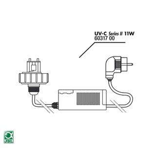 JBL Ersatzteil Gehäusedeckel + Vorschaltgerät UV-C 11 W