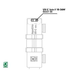 JBL Ersatzteil Gummilager für UV-C Quarzglas 18 / 36 W