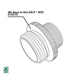 JBL Ersatzteil Metall Adapter G3/4 M28/M22 für Aqua In-Out