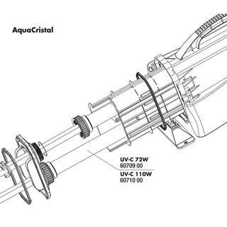 JBL Ersatzteil Quarzglaseinsatz für UV-C 110 W