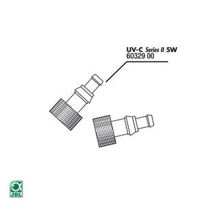 JBL Ersatzteil Tüllen für UV-C 5W 2x ohne Dichtung