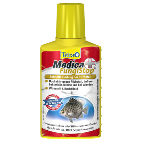 Tetra medica fungi stop 100 ml for Pilzbefall fische teich