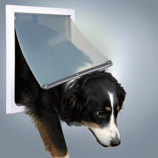 Trixie 2-Wege Freilauftür für Hunde M-XL weiß