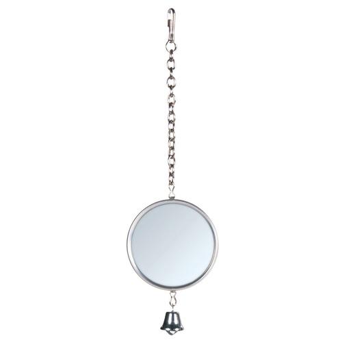 trixie spiegel mit metallrahmen kette glocke. Black Bedroom Furniture Sets. Home Design Ideas